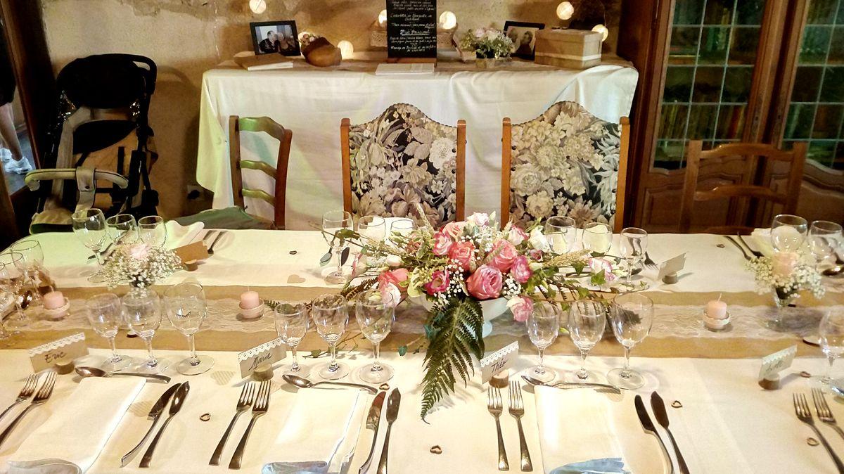 table des marié-es